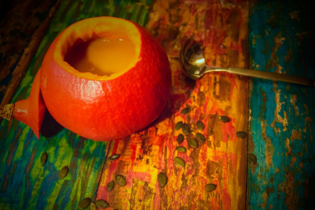 Kürbissuppe mit Apfel | Familiengarten