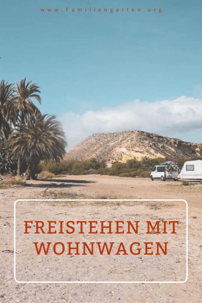 Freistehen mit Wohnwagen am Strand - Familiengarten